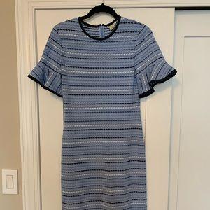 Multicolor knit midi dress